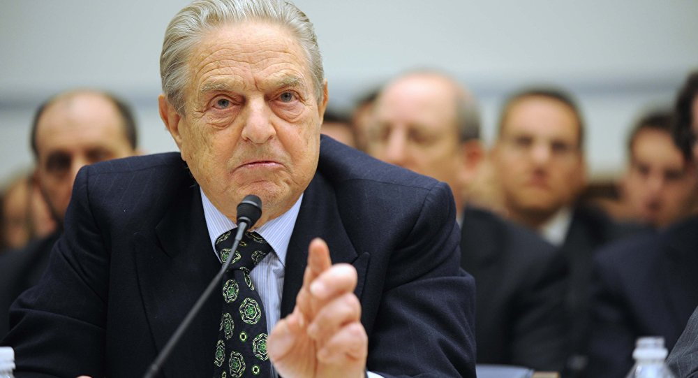 George Soros testemunhando no Capitólio em Washington