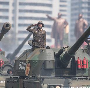 Desfile militar na Coreia do Norte