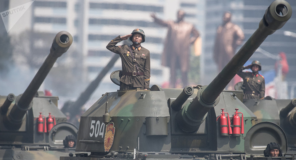 Desfile militar na Coreia do Norte