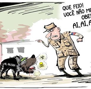 Quando seu cachorro jihadista não lhe obedece