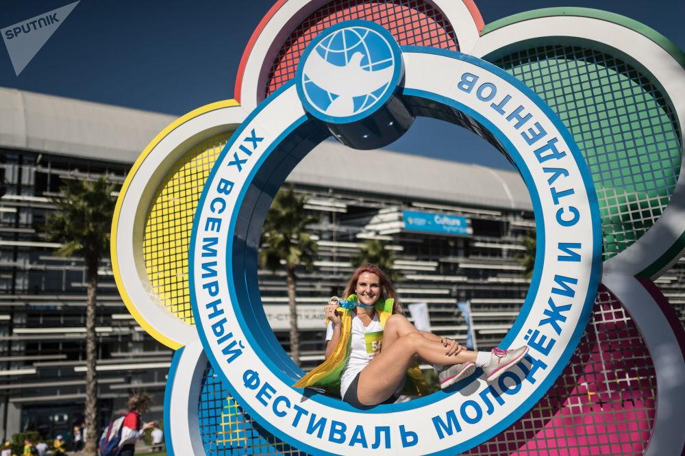 Participante do XIX Festival Internacional da Juventude realizado em Sochi, Rússia