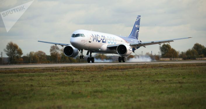 Avião MC-21 pousa após primeiro voo de longo curso proveniente de Irkurtsk