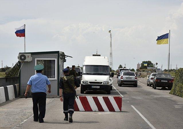 Ponto de passagem na fronteira russo-ucraniana (foto do arquivo)