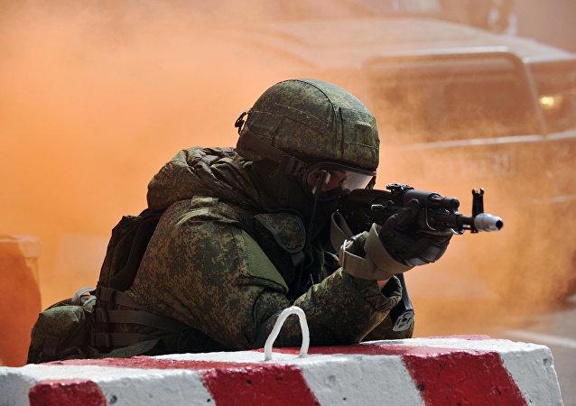 Exercícios militares das forças especiais russas (foto de arquivo)