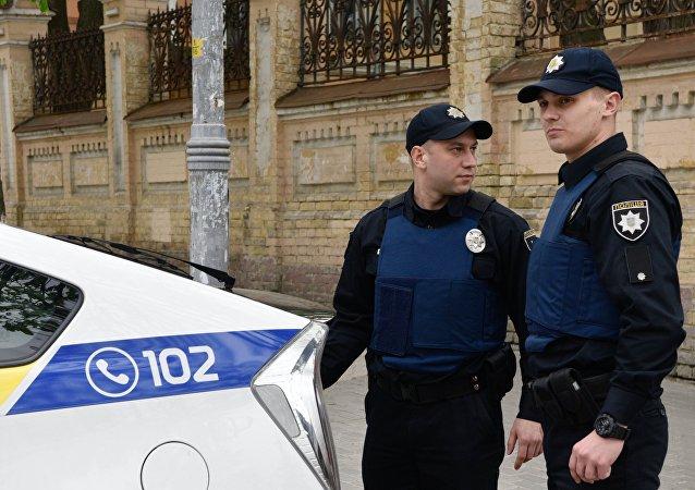 Agentes de polícia ucranianos em Kiev, Ucrânia (arquivo)