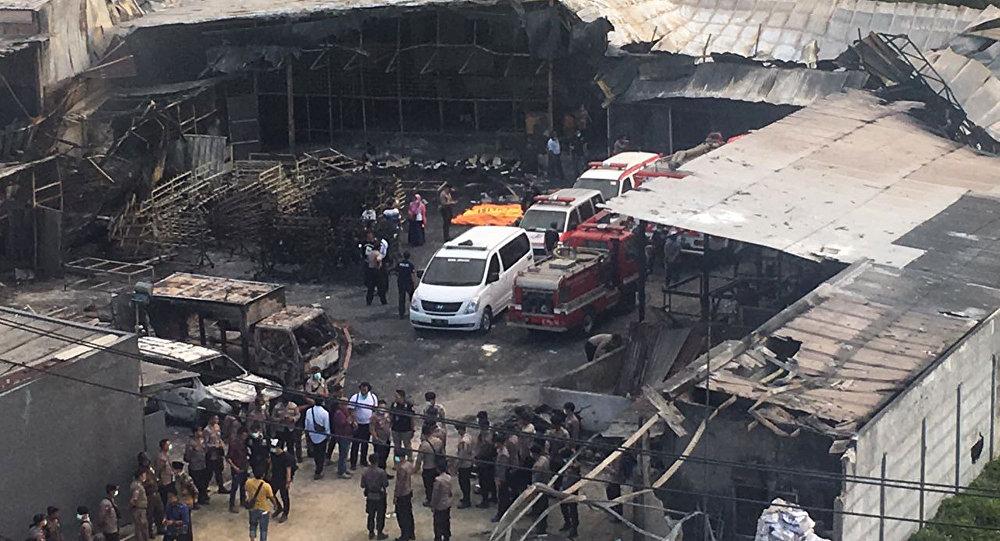 Resultado de imagem para Explosão em fábrica deixa pelo menos 47 mortos na Indonésia