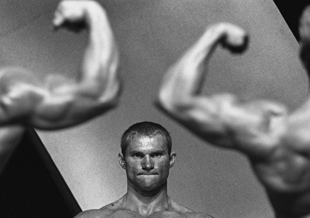 Atletas de levantamento de peso