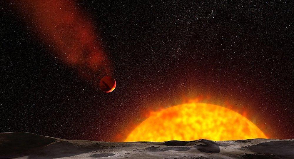 Representação artística de um exoplaneta