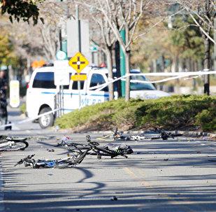 Bicicletas destruídas por caminhão em ataque terrorista de Nova York