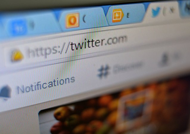 Twitter page in browser window
