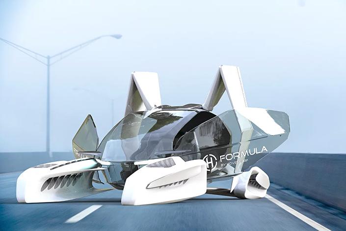 Apresentação do novo carro voador Formula da empresa russa Hoversurf