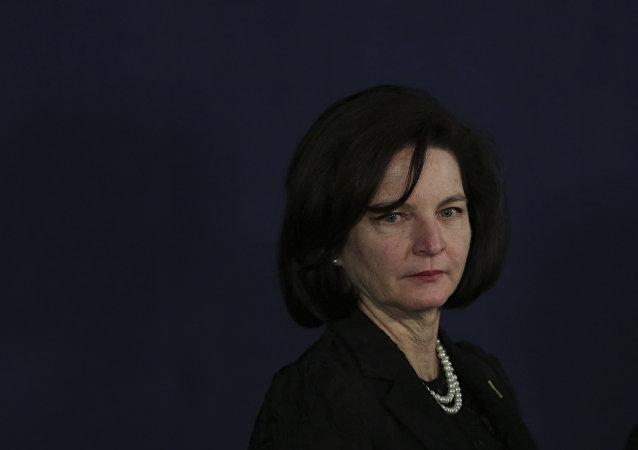 A procuradora-geral da República do Brasil, Raquel Dodge, durante sua cerimônia de posse, em 18 de setembro de 2017