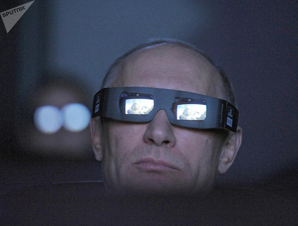 Vladimir Putin no planetário de Moscou em 2012.