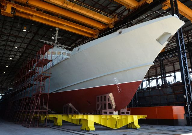 Primeiro navio de mísseis ligeiro produzido em série Taifun do projeto 22800