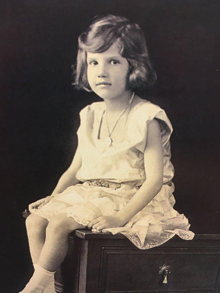Princesa Ekaterina Romanova na Sérvia quando criança