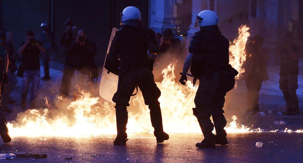 Protestos na Grécia (foto de arquivo)