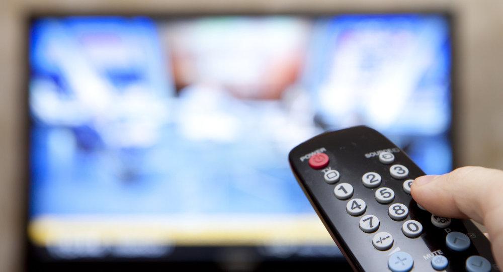 TV e controle remoto