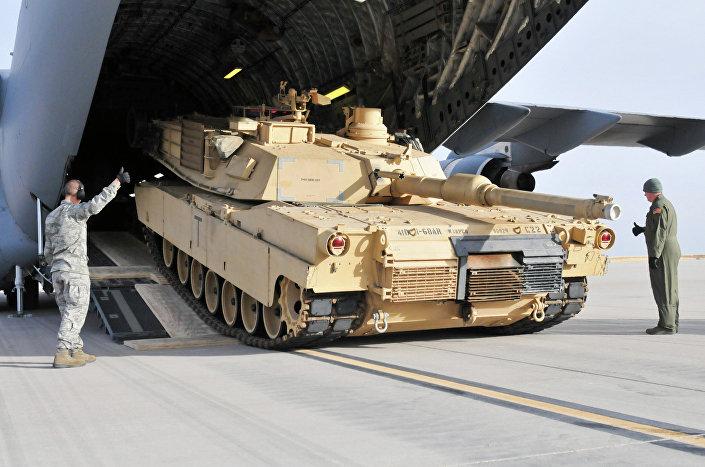 Tanque norte-americano Abrams M1A2