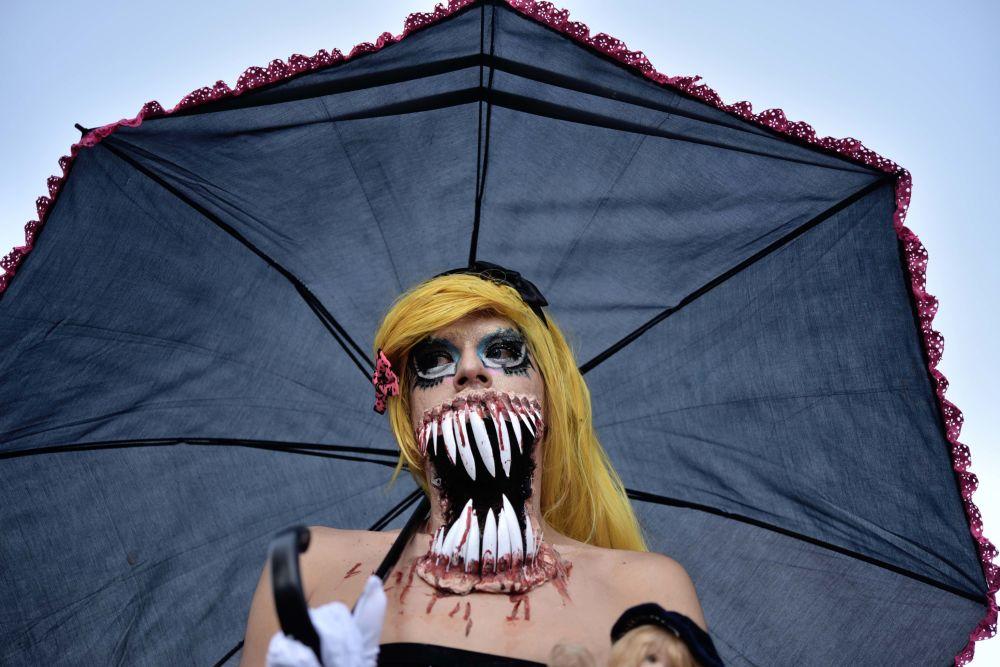 Parada de zumbis na cidade do México
