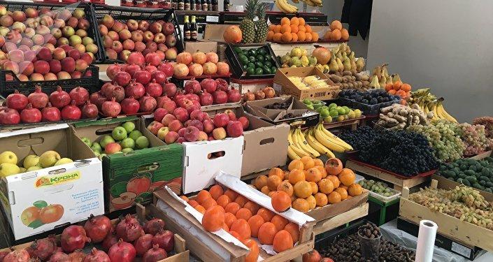 Frutas no mercado central de Rostov
