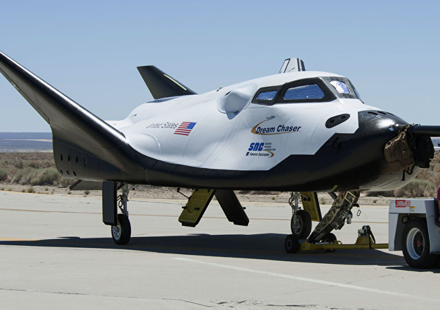 A nave espacial Dream Chaser.