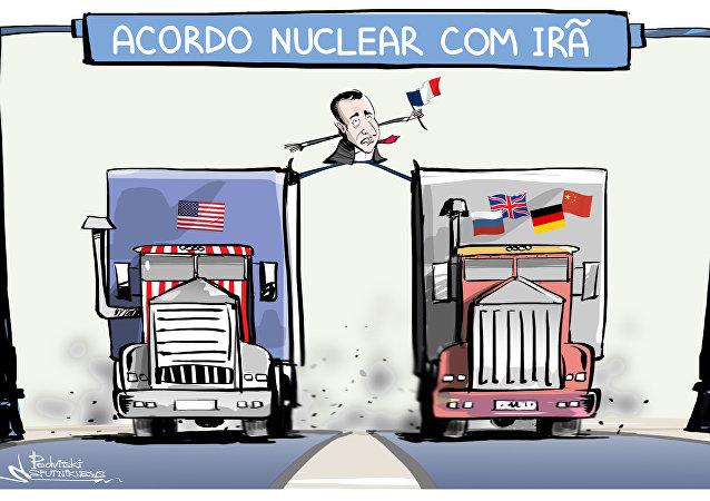 Acrobacia diplomática desempenhada pelo presidente francês