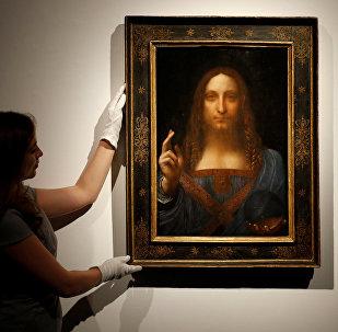 Quadro Salvator Mundi de Leonardo da Vinci