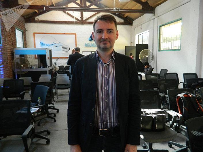 Oleg Arseniev, diretor da RITE, companhia de altas tecnologias que faz parte da corporação Rostec