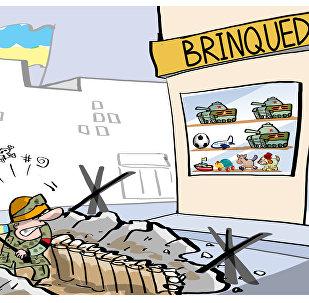 Kiev não perde a chance de reclamar para mamãe quando encontra 'tanques russos'