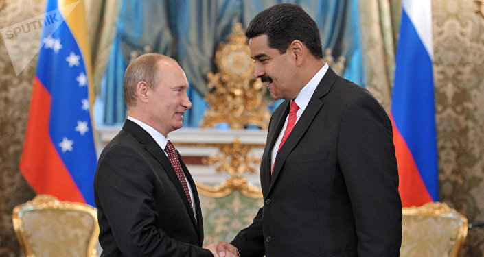Presidente russo, Vladimir Putin, com seu homólogo venezuelano, Nicolás Maduro