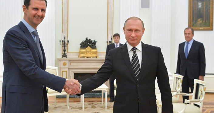 Presidente russo Vladimir Putin encontra-se com o líder da Síria Bashar Assad em Moscou