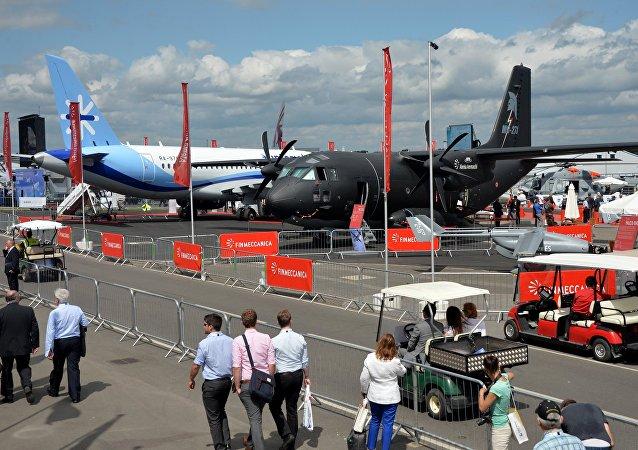 Show aéreo internacional Farnborough (foto de arquivo)