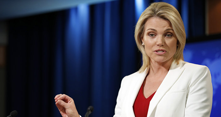 Heather Nauert porta-voz do Departamento de Estado norte-americano (arquivo)