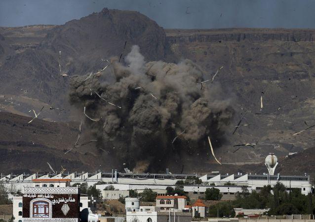 Ataque aérea na capital do Iêmen