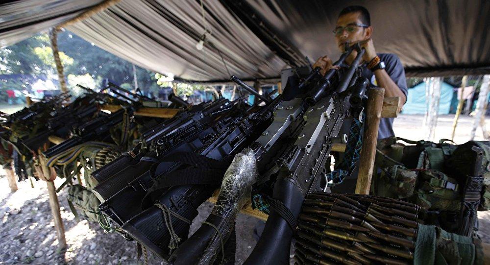 Armamento das FARC, foto de fevereiro de 2017