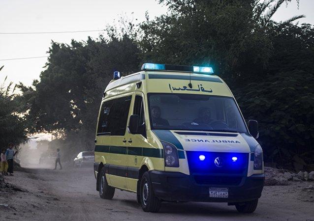 Ambulância no Egito (foto de arquivo)