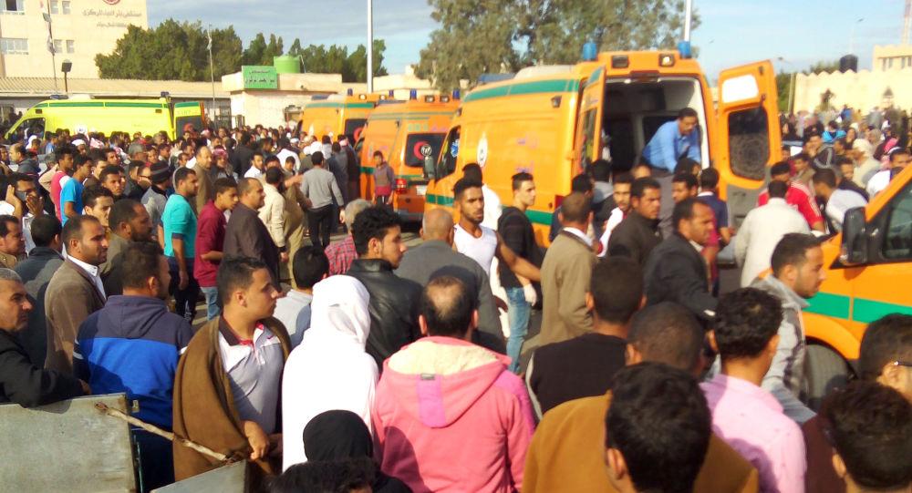 Evacução da mesquita de El-Arish, Egito, 24 de novembro de 2017