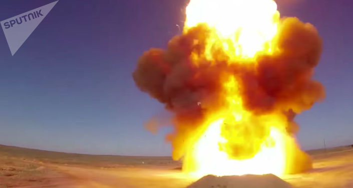 Lançamento do míssil renovado A-135 do sistema de defesa antiaérea, no polígono cazaque de Sary-Shagan