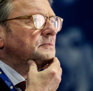 Ombudsman de negócios russo, Boris Titov, durante o Fórum Exonômico Internacional de São Petersburgo 2017