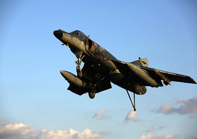 Avião de combate francês Super Etendard