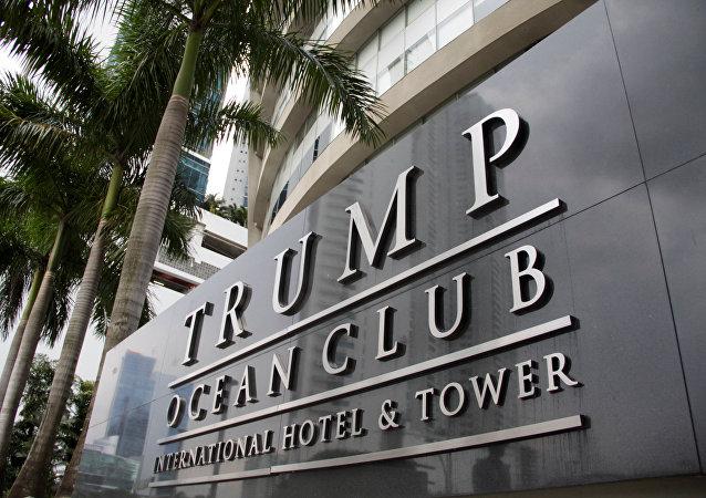 Placa do hotel de Trump no Panamá (foto de arquivo)