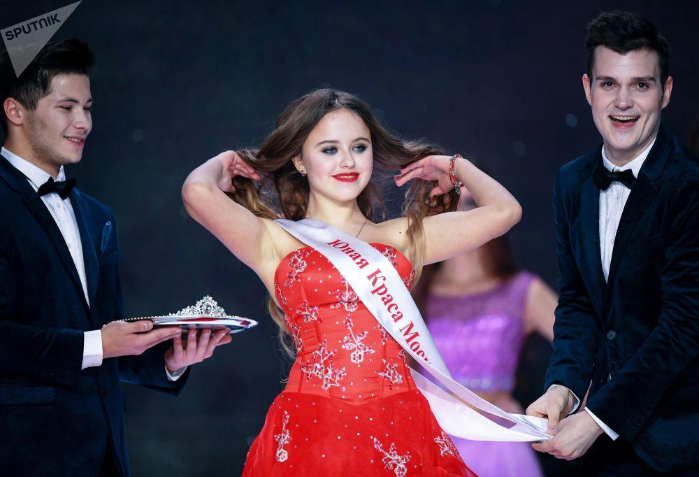 Lada Mishina, uma das participantes do concurso Miss Moscou 2017