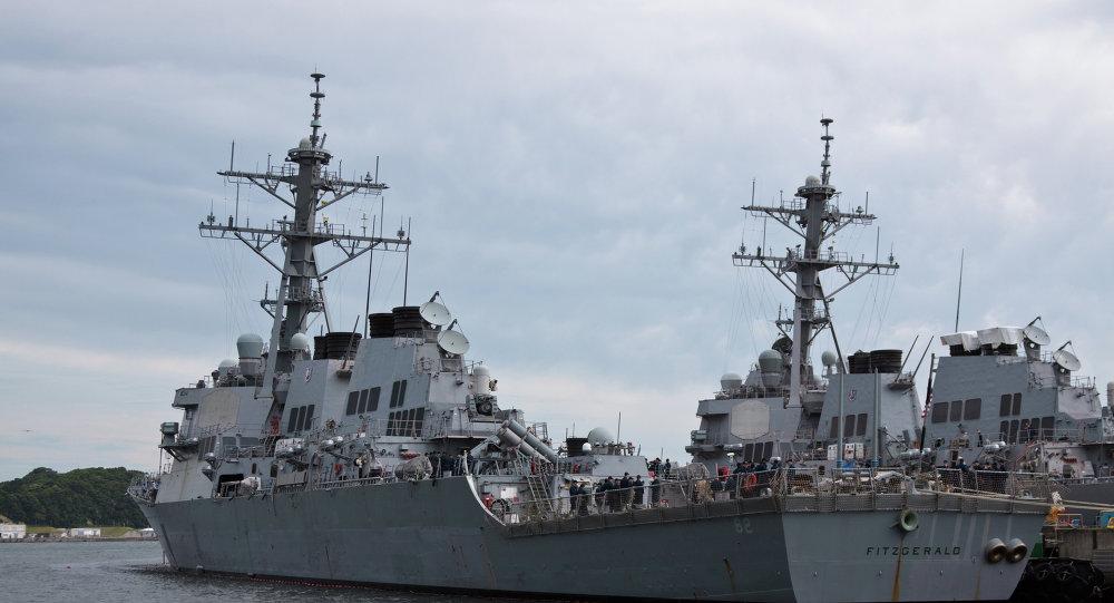 O destróier de mísseis guiados USS Fitzgerald da Marinha dos EUA (foto de arquivo)