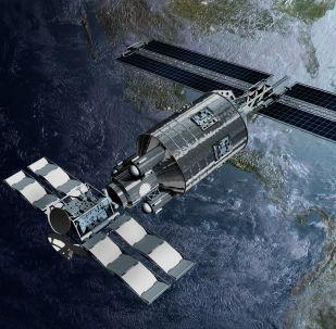 Satélite na órbita terrestre (imagem referencial)