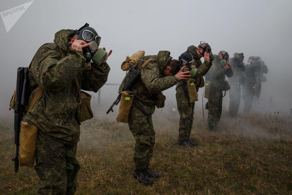 Treinamentos de militares do Distrito Militar do Sul, Rússia