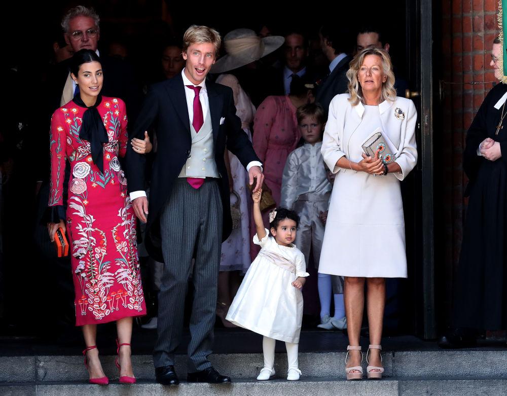Príncipe Cristian de Hanôver com sua esposa, a designer e modelo Alessandra de Osma (à esquerda)