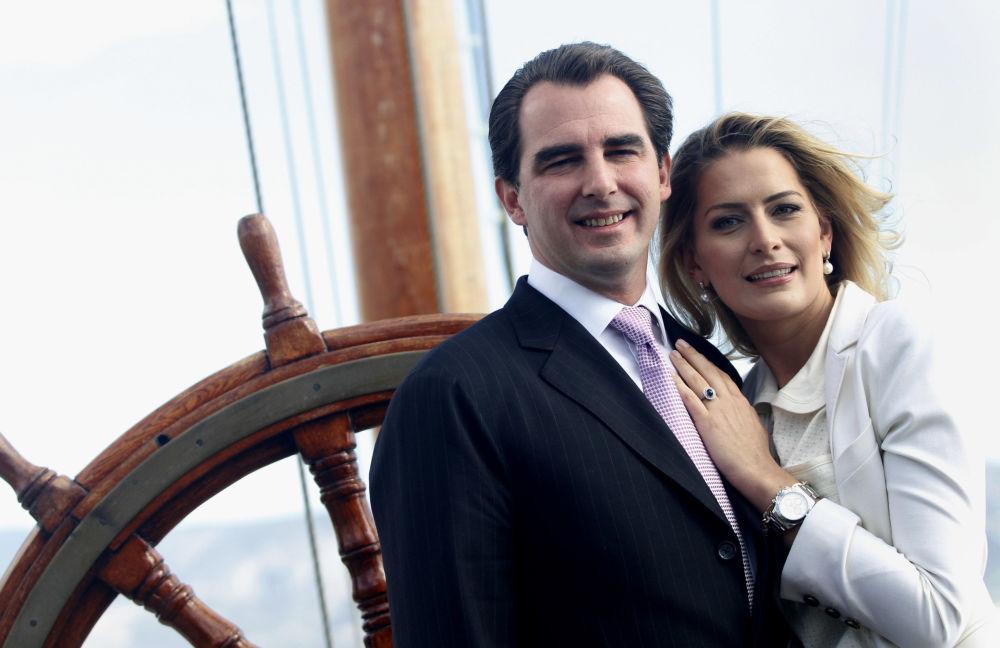 Gerente Tatiana Batnik com seu namorado, o príncipe grego Nikolaos